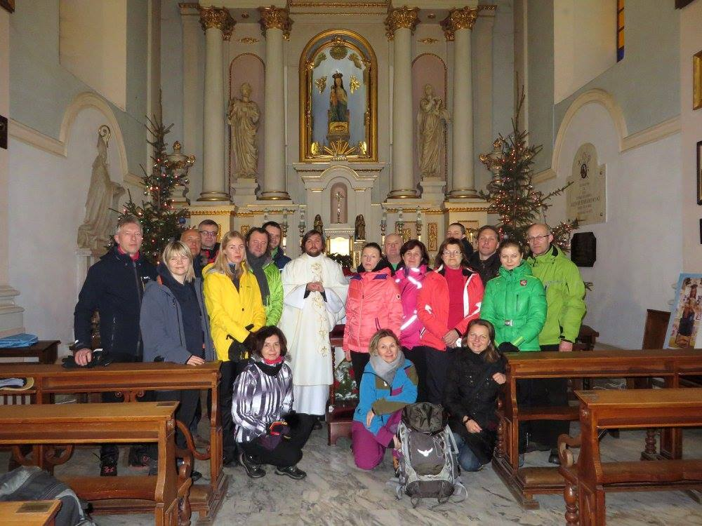 Camino Lituano community on the pilgrimage from Sejny (Poland) to Lithuania, January of 2017